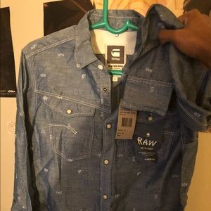 G-Star Raw Men's Flannel Size Medium New With Tags